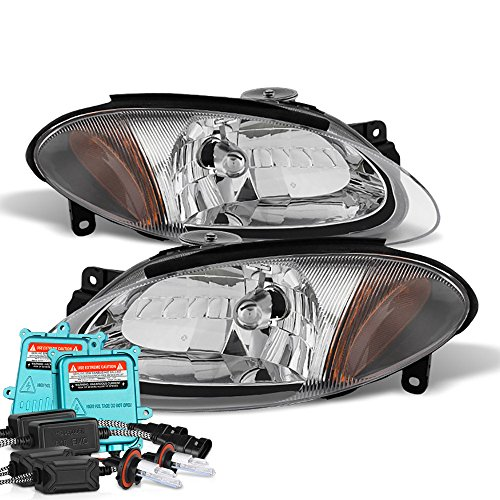 Ford Escort Body Kits - VIPMOTOZ For 1998-2003 Ford Escort ZX2 Headlights - Built In Xenon HID Low Beam, Metallic Chrome Housing, Driver and Passenger Side