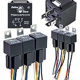 ONLINE LED STORE 6 Pack Bosch Style 5-Pin 12V Relay Kit [Interlocking Harness Socket Holder] [14 AWG Hot Wires] [SPDT…
