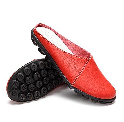Scarpe Fondo EU39 Morbido UK6 Pantofola Pelle C CN39 Tacco Scarpe Antiscivolo US8 Vera Basso Suola Donna A Colore Puro SHANGXIAN wEAPq7