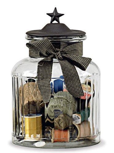 Cookie Jar Star Jars - Park Designs Black Star Large Glass Jar