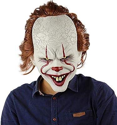 Mjqxy Máscara De Payaso Stephen KingS It Mask Pennywise Horror ...