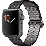 Apple Watch Series 2 Smartwatch 38mm Space Gray Aluminum Case Black Woven Nylon Band (Renewed)