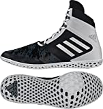 adidas Impact Wrestling Shoes - Black/Silver/White - 9.5