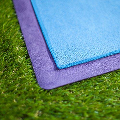 Amovee 2 In 1 Yoga Mat Towel Non Slip Sweat Absorbent
