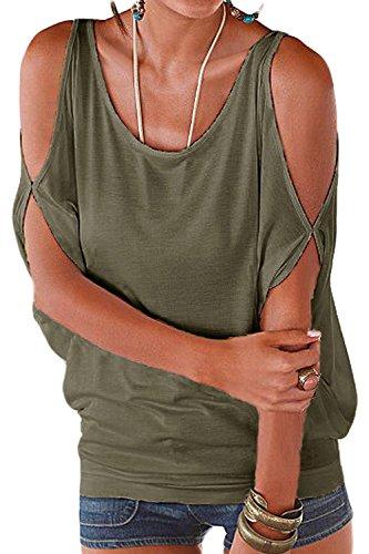 Figure t Femmes Tee T Darkgreen Blouses Shirt Libert Tops Manches Occasionnels fdqfT