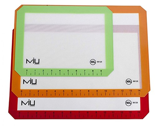 Silicone Baking Liners 3-Pack: Colors Vary by MIU France