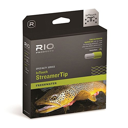 RIO Products Fly Line Intouch Streamertip 10' INT. Wf5F/I, Gray-Yellow-Pale-Green