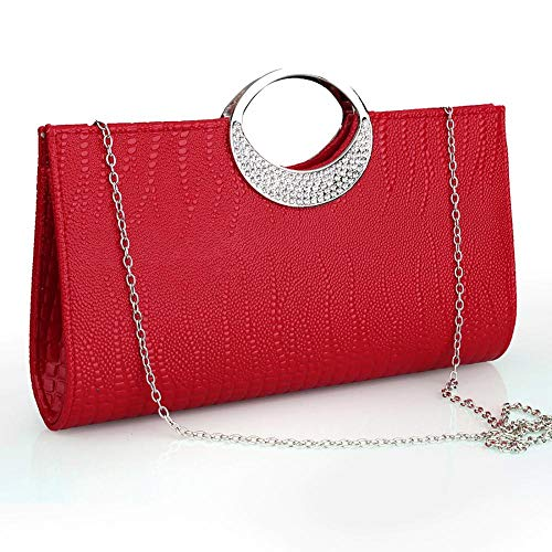 Wedding Womens Evening Luxury Clutch and for Wallet Rhinestone Party Handbag Purse White Leather zrzwq