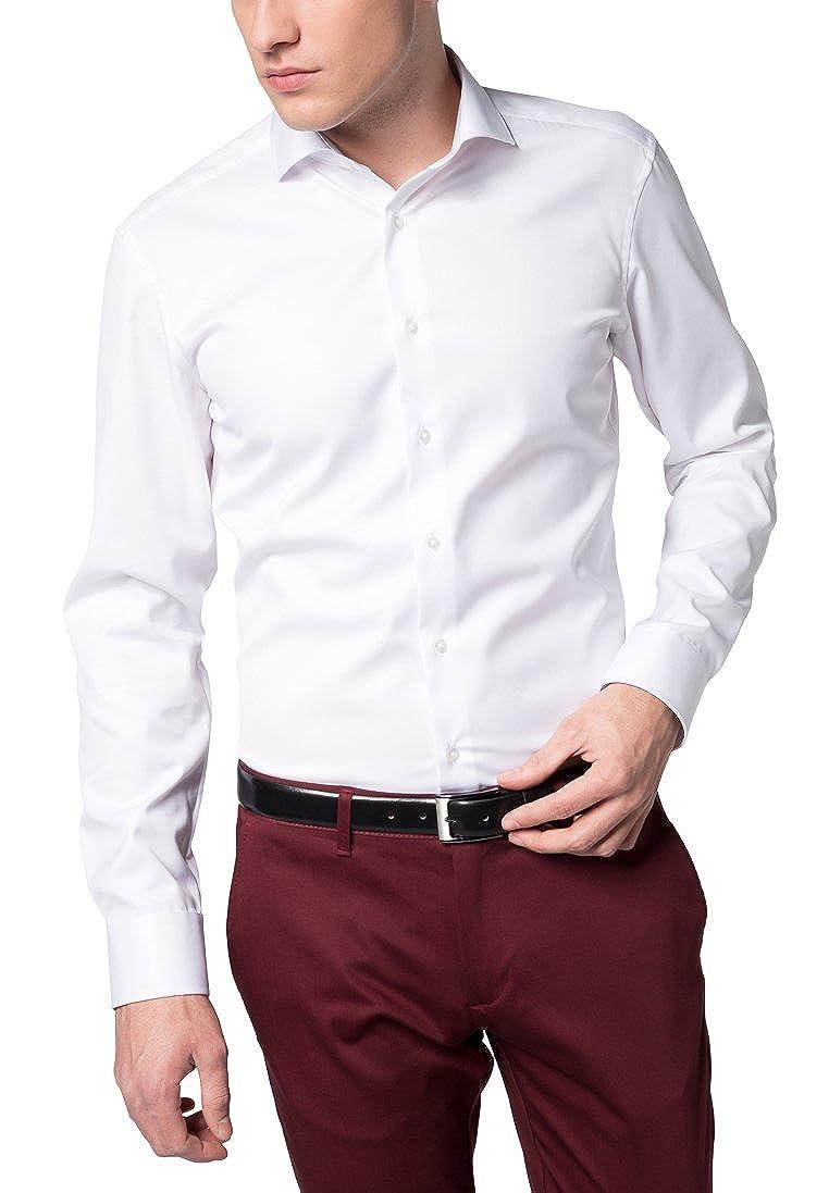 Eterna Long Sleeve Shirt Slim Fit Twill Uni