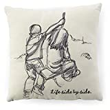 Hallmark Side By Side Siblings Embroidered 10x10 Pillow Decorative Accessories Birthda...