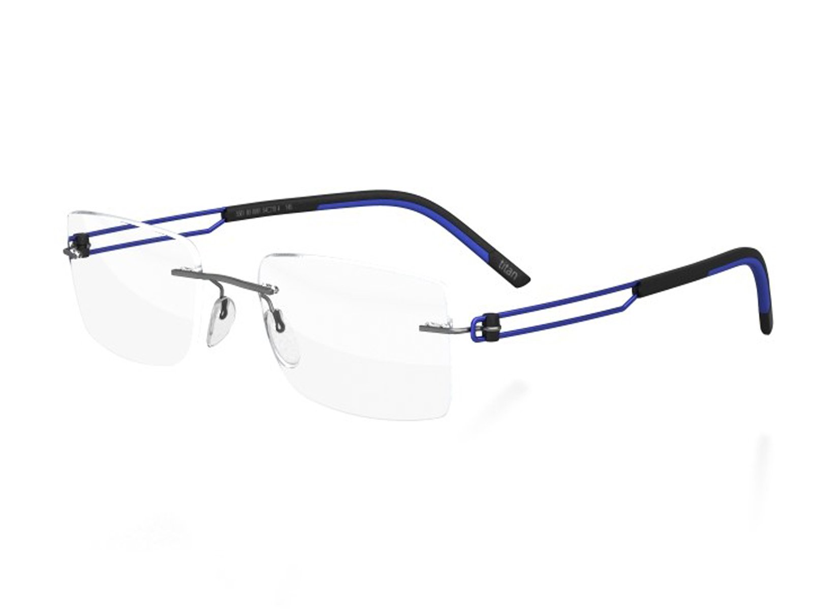 Silhouette Eyeglasses Titan Profile 2016 New Style (cobalt blue / grey) by Silhouette