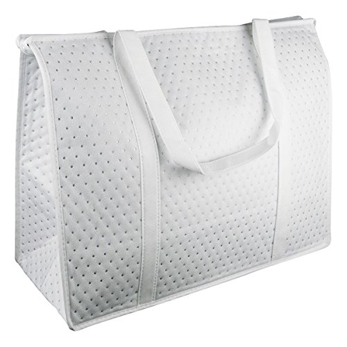 White Insulated Picnic Tote Bag for Diner en Blanc & Bonus Carry Bag