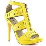 Best Michael Antonio Platform Heels - Michael Antonio Women's Trysh Yellow Sandal Review