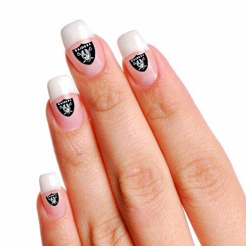 NFL Oakland Raiders 4-Pack Temporary Nail Tattoos]()