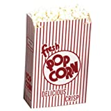 Dixie Red and White Automatic Bottom Popcorn Box, 3 x 8 x 11 inch -- 250 per case.