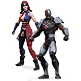"DC INJUSTICE GODS AMONG US CYBORG VS HARLEY QUINN 3.75"" ACTION FIGURE 2 PACK"