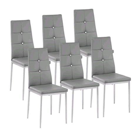 Amazon.com: Rabinyod Bulan - Juego de 6 sillas de comedor ...