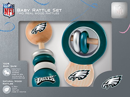 NFL Philadelphia Eagles Baby Rattle Set - 2 Pack