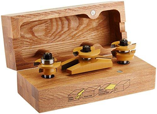 Sommerfeld's 3 Piece Shaker Raised Panel Door Set, 1/2-Inch Shank by Sommerfeld Tools