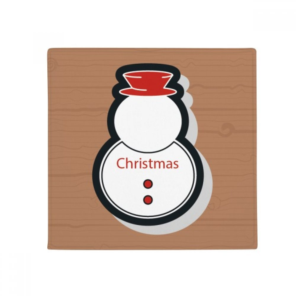DIYthinker Christmas Snowman Christmas Icon Anti-Slip Floor Pet Mat Square Home Kitchen Door 80Cm Gift