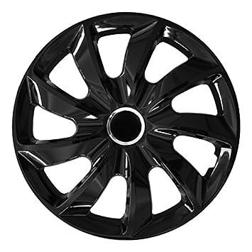 (tamaño a elegir) Tapacubos/Tapacubos Stick (Negro) apto para casi todos los tipos de vehículos (universal): Amazon.es: Coche y moto