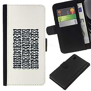 EJOY---La carpeta del tirón la caja de cuero de alta calidad de la PU Caso protector / Sony Xperia Z1 L39 / --Gafas Optimetrist minimalista Hipster