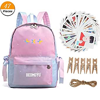 Amazon.com: Youyouchard Kpop BTS TXT Backpack with