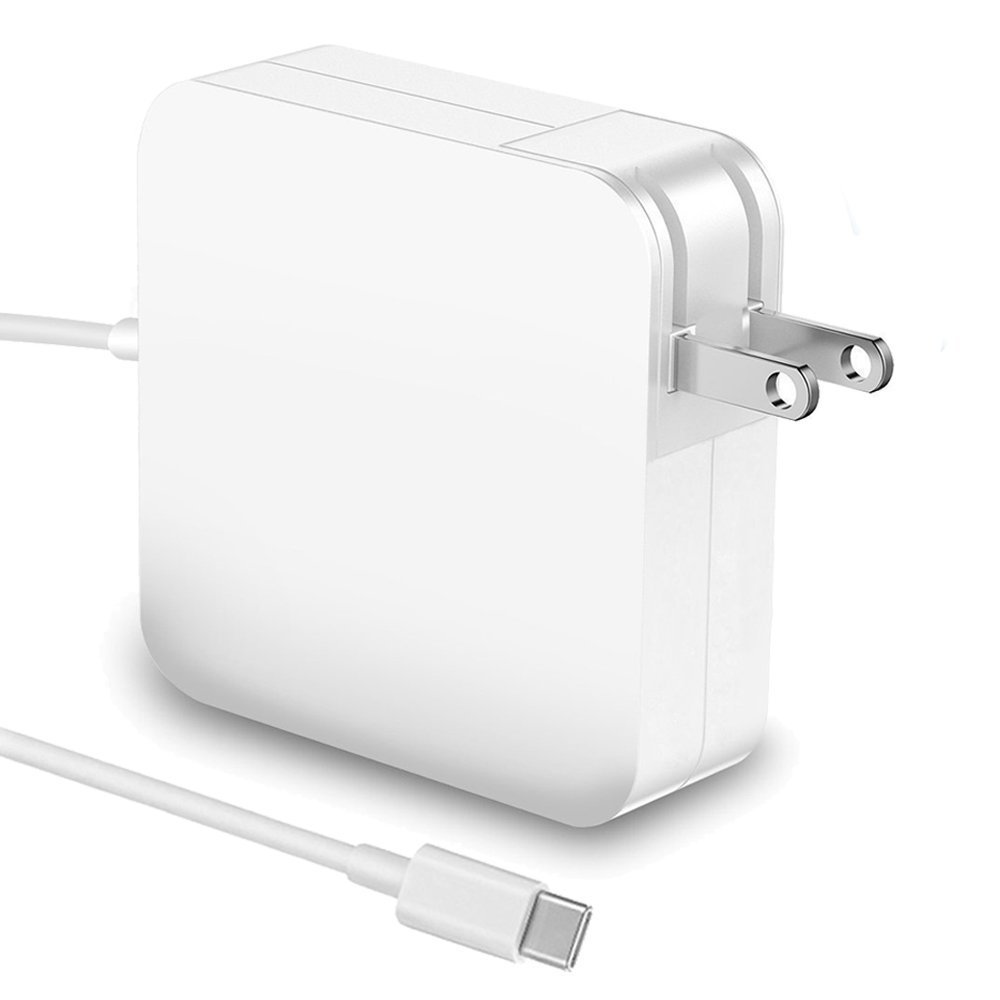 61W USB C Power Adapter With USB-C to USB-C Charge Cable for Apple Macbook Pro 13'',12'',iPad Pro,HTC 10,Nexus 5X/6P, LG G5,Pixel C,HP Spectre,Moto Z,Google Pixel 2/2 XL, Nintendo Switch and More