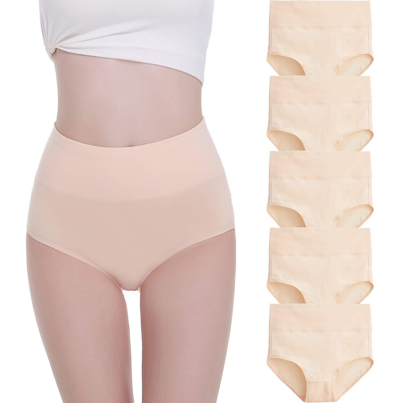 FALARY Unterhosen Damen Unterw/äsche Baumwolle 5er Pack Slip Hohe Taille Unterhose Taillenslip Gr/ö/ße XS-3XL