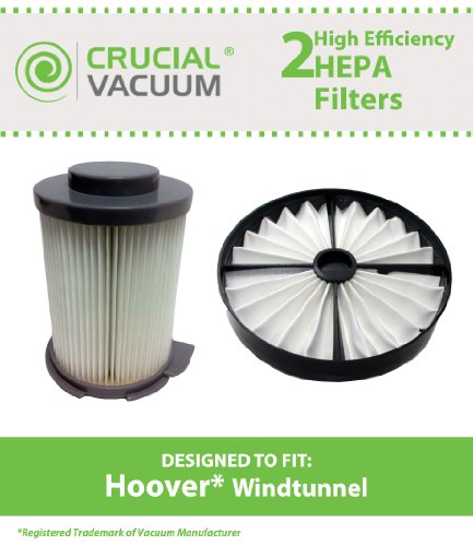 Filter Kit for Hoover WindTunnel Upright Vacuums; Includes HEPA Canister Filters; Compare to Part Nos. 59134033 & 59134050; Designed & Engineered by Think Crucial
