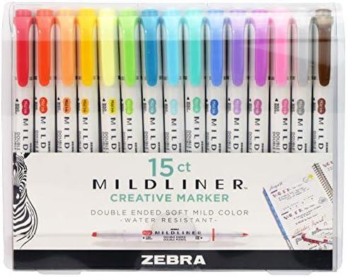 Double Ended Zebra Mildliner Creative Highlighter Marker Pen Single Orange