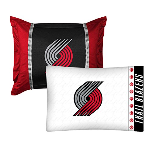 - 2pc NBA Portland Trail Blazers Pillowcase and Pillow Sham Set Basketball Team Logo Bedding Accessories