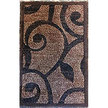 Amazon Com Modern Door Mat Area Rug Brown Americana