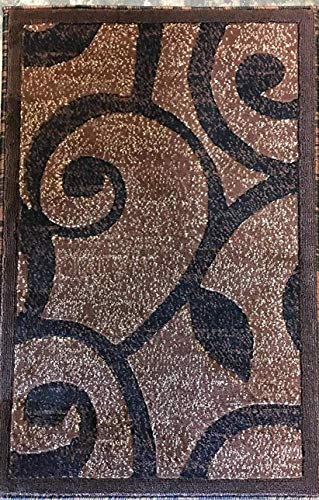 Modern Door Mat Area Rug Brown Americana Design #154 Americana (2ftx3ft)