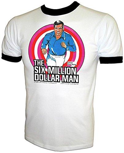 - Vintage Six Million Dollar Bionic Man X-Men Quicksilver Steve Austin TV Show T-Shirt White