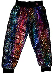 Girls Siwa Rainbow Flip Sequin Jogger Pants