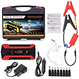 Xumeili 89800mAh 4 USB Portable Car Jump Starter Pack Booster Charger Battery Power Bank (Red)