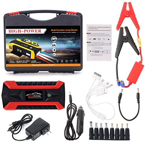 GMSP 89800mAh 4 USB Portable Car Jump Starter Pack Booster Charger Battery Power Bank