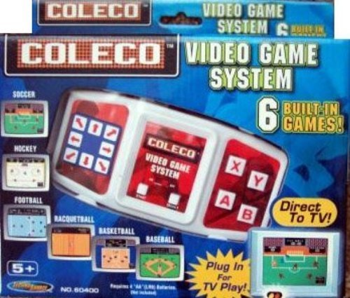 Coleco Plug-n-play Tv Video Game System Soccer, Hockey, Football, Racqetball, Basketball & Baseball by Coleco ()