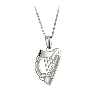 Amazon traditional sterling silver irish harp pendant by solvar traditional sterling silver irish harp pendant by solvar aloadofball Gallery