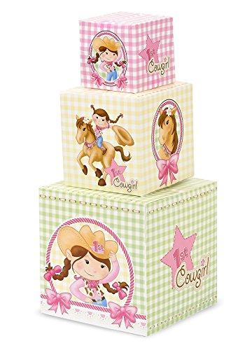 Pink Cowgirl Party Supplies - 1st Birthday Centerpiece