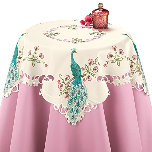 (Collections Etc Embroidered Peacock Table Linens,)