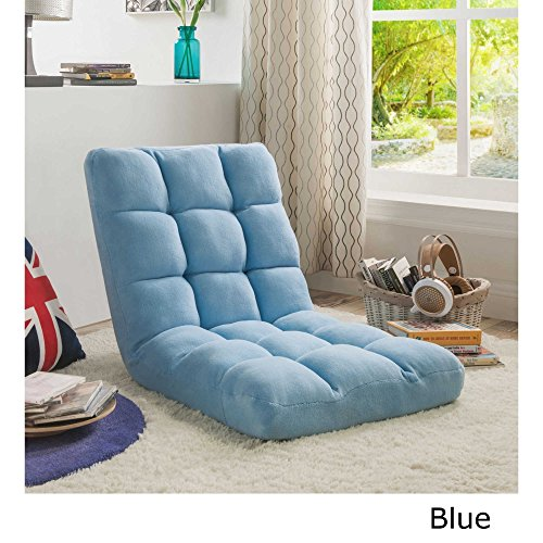 51FPfP dT7L - Loungie-Supersoft-Folding-Adjustable-Floor-Relaxing-Reclining-Gaming-Chair-Expert-Guide-by-JaxTerrific-Blue