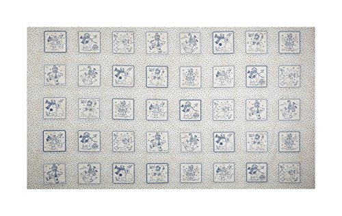Maywood Studio Roly-Poly Snowmen Roly-Poly Patches Fabric, Natural, Fabric By The Yard ()