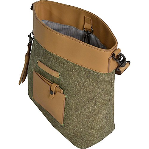 Boheme Sherpani Waxed Medium Canvas Crossbody Fern gFqfFwdx