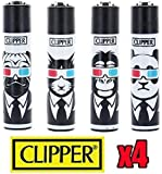 Clipper Pack of 4 Lighters * 3D Animals *