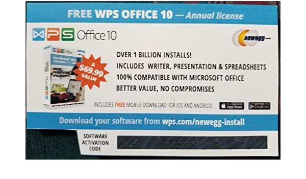 Amazon WPS Office 10 Business Edition 1 PC Year