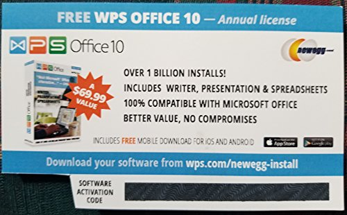 WPS Office 10 Business Edition (1 PC/1 Year - KeyCard)