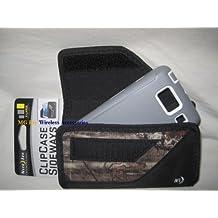 Nite Ize Black/Camouflage Mossy Oak Extended Sideways Horizontal Rugged Heavy Duty X-large Holster Pouch W/Durable Fixed Belt Clip Fits Motorola Droid Razr HD Xt926 Maxx /Ultra Xt1080 Otterbox Defender / Commuter