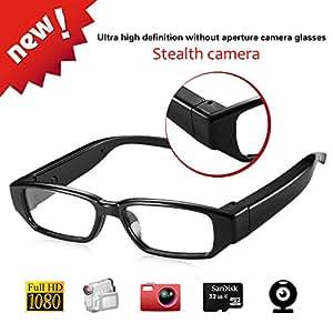 LIDAUTO Cámara Oculta Video de Gafas Gafas espía Mini DV Videocámara 1080P HD